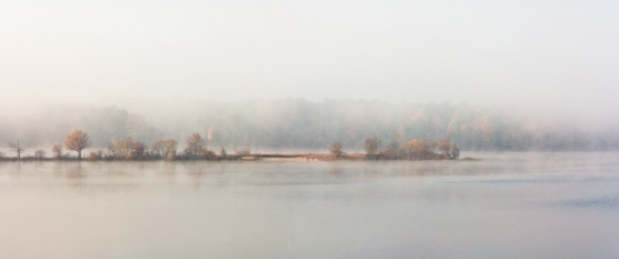 Stone Point in Fog 7.75 x 18 Matte Luster Print